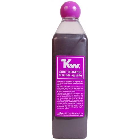 Kw Séria čierneho, hnedého a bieleho šampónu - čierny šampón