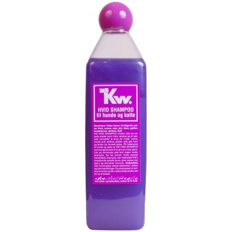 Kw Séria čierneho, hnedého a bieleho šampónu - biely šampón